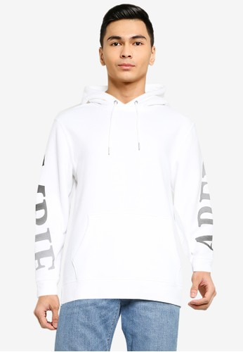 Abercrombie & Fitch white Scale Print Logo Popover Hoodie 9A243AA522EC0BGS_1