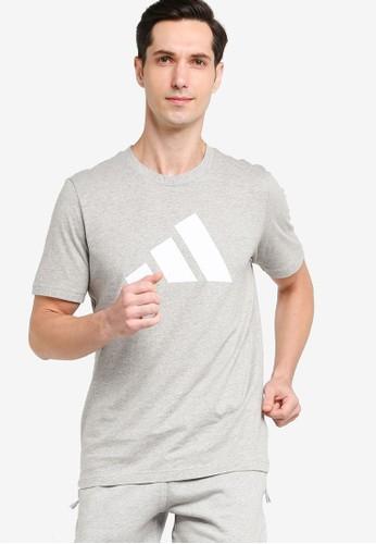 ADIDAS grey sportswear logo tee A2BF0AA6BED3C1GS_1