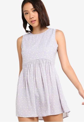 Something Borrowed 紫色 Waisted Sleeveless Dress 0FB89AAE96215EGS_1