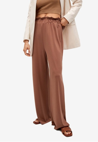 Mango orange Drawstring Waist Modal Trousers EDFD6AA9FDB8DAGS_1