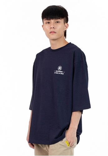 Reoparudo blue and navy IEEO x RPD Colours Adjusting Print Oversized Tee (Dark Blue) 04BDFAA9E78543GS_1