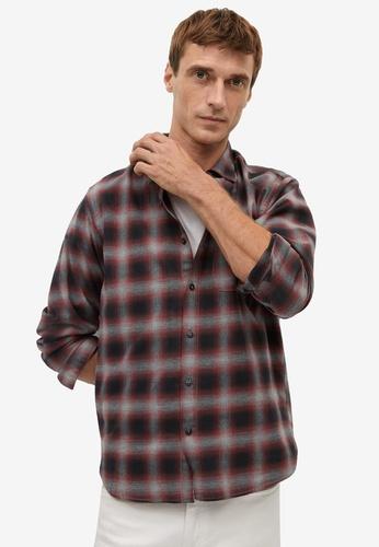 Mango Man grey Regular Fit Checked Flannel Shirt CA20FAA64F8768GS_1