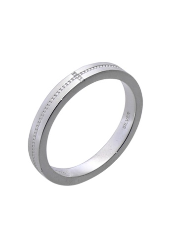The LoveMark silver Dot and Cross Ring for Men lr0009m TH516AC01UZQPH_1