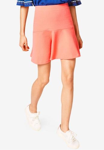 ESPRIT 橘色 針織短裙 7B450AA2CAB25BGS_1
