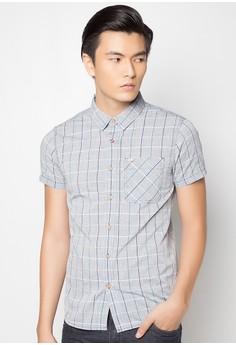 Men's Checkered Short Sleeve Shirt