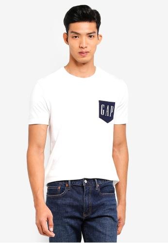 GAP white Novelty Gap Logo T-Shirt 1DC56AA4F2F74BGS_1
