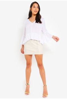 94c811fe5a05e0 44% OFF Glamorous Crinkle Ruffle Blouse S$ 56.90 NOW S$ 31.90 Sizes XS S M L