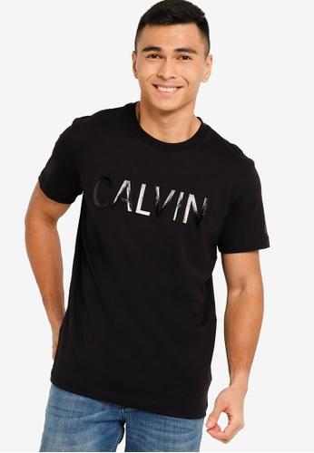 CALVIN KLEIN black Calvin Embroidery Tee - CK Jeans 99229AAEE93D9DGS_1