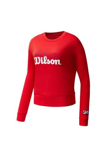 FILA red FILA x Wilson Logo Sweatshirts 30179AAF5B4805GS_1