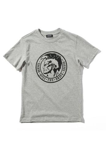 Diesel grey Short Sleeve T-shirt 5D8C1KA72923D1GS_1