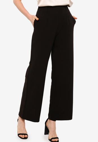 ZALORA OCCASION black Co-Ord High Waist Wide Legged Pants D04D1AA945CB4FGS_1