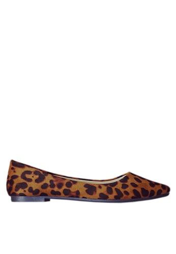Twenty Eight Shoes 褐色 舒適豹紋平底鞋 VL1812 A5DF7SHF08F6EEGS_1