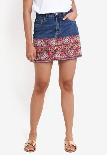 ONLY blue Naila Mini Denim Skirt 8BB55AA41E710EGS_1