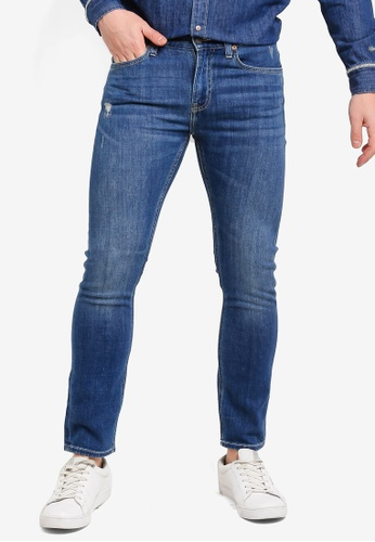 cf39024b Lee blue 709 Luke Slim Low Rise Tapered Jeans 29956AA8506414GS_1
