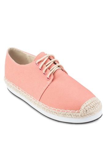 繫帶麻編休閒鞋、 女鞋、 鞋ZALORA繫帶麻編休閒鞋最新折價