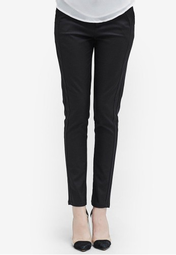 Hopeshow black Slim Fit Long Pants 00542AA9066F60GS_1
