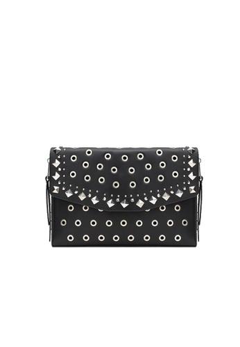 LULUGIFT black Lulugift Special Rivets Envelope Sling Bag Black LU989AC0RAN7MY_1