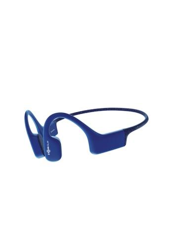 AFTERSHOKZ blue AfterShokz XTrainerz Waterproof Bone Conduction MP3 Headphones. 85D0DESF3D192BGS_1