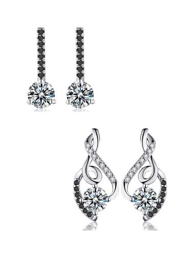 A-Excellence white Premium Elegant White Silver Earring Set D2AB1AC3B0F129GS_1