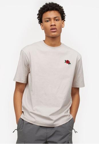 H&M grey Relaxed Fit T-Shirt DFEC1AA222DE25GS_1