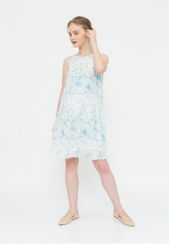 Bove by Spring Maternity multi Woven Sleeveless Clarabelle Dress Water Print 7051DAA07774B9GS_1