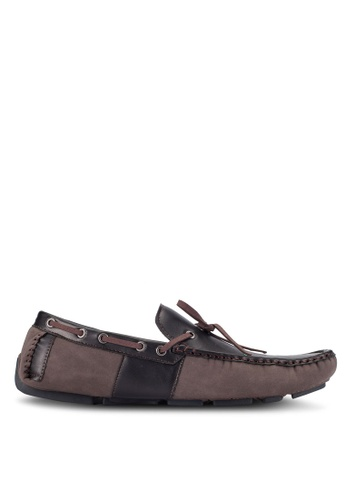 UniqTee brown Lace Up Slip-On Moccasins UN097SH0RFVTMY_1