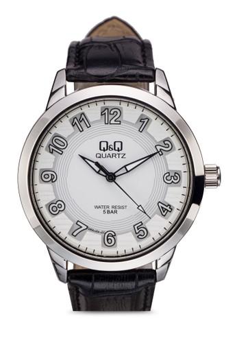 Q&Q Q956Jesprit官網304Y 仿皮數字手錶, 錶類, 飾品配件