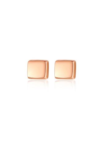 SUNRAIS High quality Silver S925 rose gold simple design earrings 0CA96AC2ABB9E5GS_1