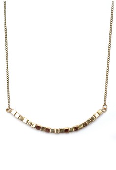 Square Cube Bead Chain Necklace