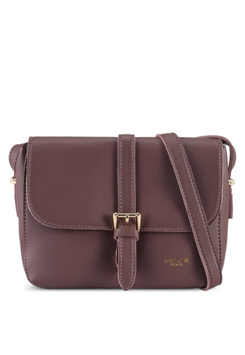 Unisa purple Faux Leather Sling Bag With Flap Over 58EDDAC63AB376GS_1