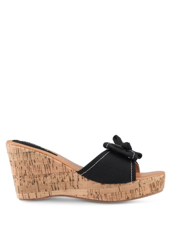 Mimosa black Bow Wedges B9017SH0416EB6GS_1