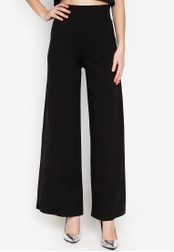 CIGNAL black Long Wide Pants 23314AA50B7B84GS_1