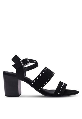 Dorothy Perkins black Black Star Studded Heeled Sandals 62BDCSH44CE114GS_1