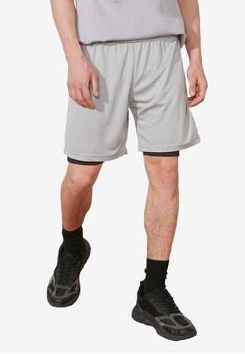 Trendyol grey Slim Fit Shorts 349EBAA2AD1E7BGS_1