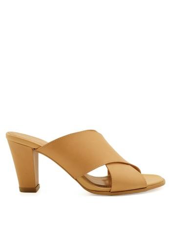Apple Green beige Karen Sandal Heels AP517SH33ZWSID_1