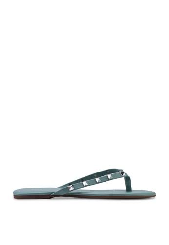 nose 綠色 金屬感尖頭涼鞋 2F1F5SH1900526GS_1