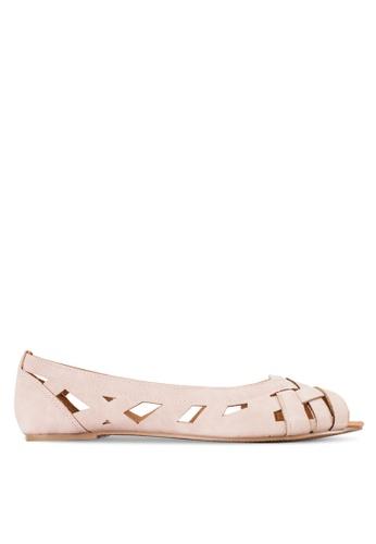 Rubi pink Horizon Peep Toe Flats RU506SH12RCXMY_1