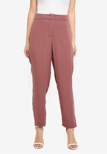 ZALORA BASICS brown Pleated Long Pants C84B5AA31E6A46GS_1