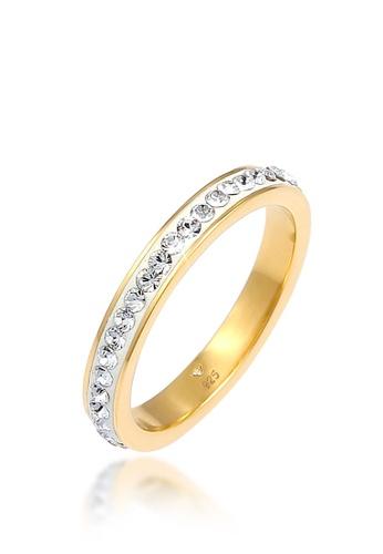 ELLI GERMANY white Sparkling Swarovski® Gold Plated F34FCACD5E670AGS_1