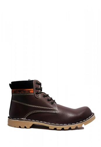 Cut Engineer brown Cut Engineer Safety Boots US Leather Dark Brown CU226SH41KWGID_1