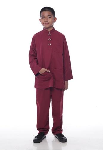 Denai Boutique red and multi Baju Melayu Ziyyad B2082KAE9F30D6GS_1