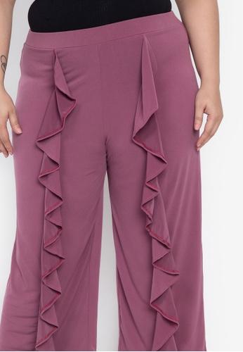 52d1ea37035 Shop Ashley Collection Plus Plus Size Drape Ruffles Cropped Pants ...