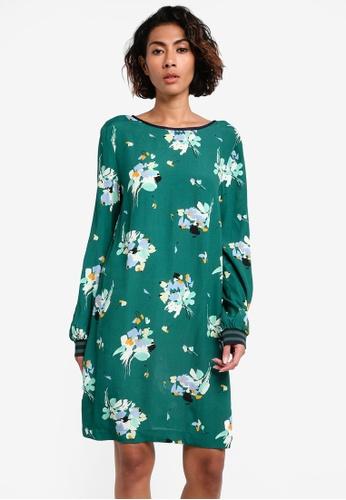 Mango green Trim Floral Dress MA193AA0RQWLMY_1