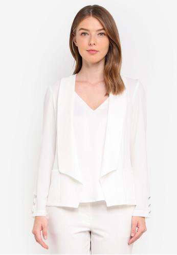 Wallis white Petite White Button Blazer 22983AAF0E283FGS_1