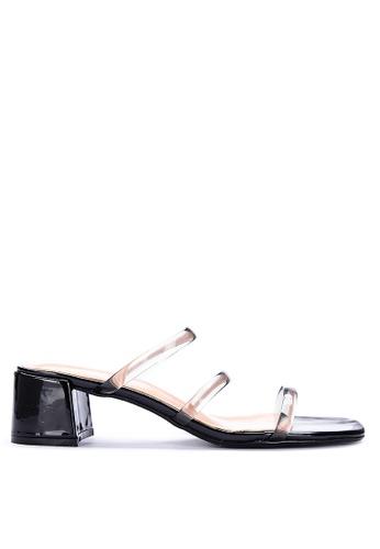 ABOUT A GIRL black Heeled Slides 4DB16SH1C15DBCGS_1