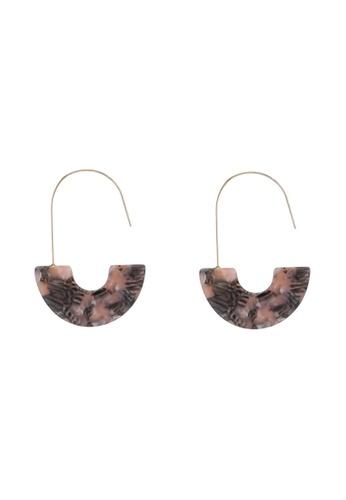 Saturation multi Agate Drop Hook Earrings C055BACD808E6DGS_1