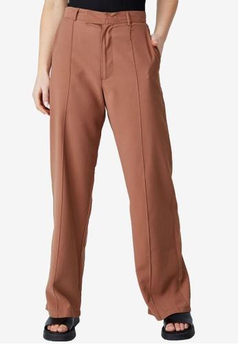 Cotton On brown Darcy Pants F7F52AA3EBAFA8GS_1