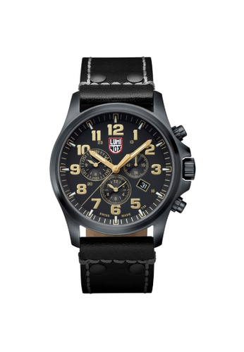 Luminox brown Luminox Atacama Field Black and Brown Leather Watch 8B560ACE5C6A9CGS_1