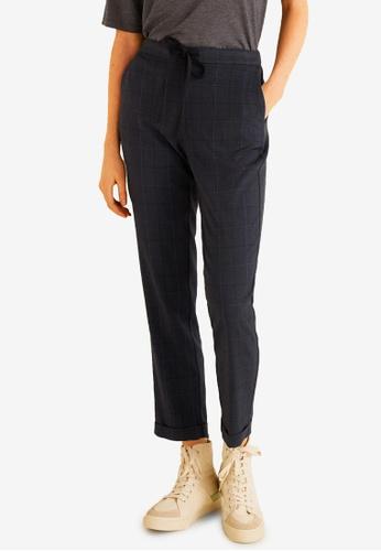 Mango navy Elastic Waist Trousers 2CD4CAAB86B818GS_1