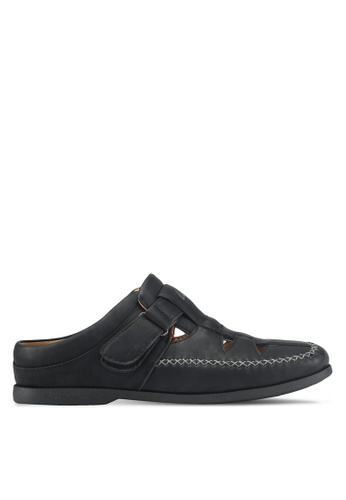 Louis Cuppers black Casual Slip Ons 180E5SH73EF1E3GS_1